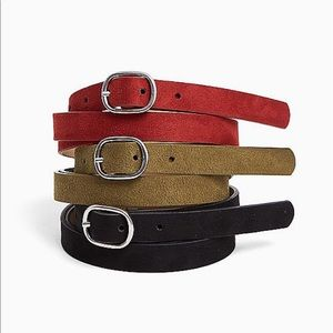 Nwt Torrid 3 pack Suede faux leather belts